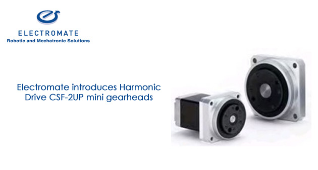 Electromate introduces Harmonic Drive CSF-2UP mini gearheads